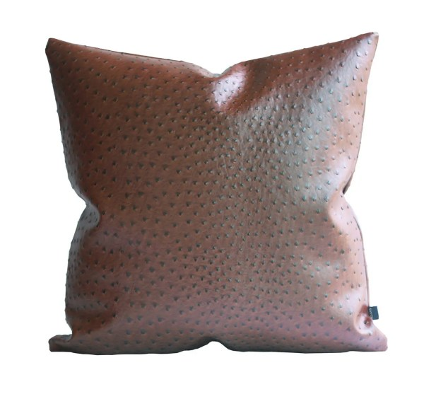Kdays Ostrich Faux Leather Pillow Cover Decorative Couch