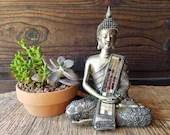 Silver Sitting Buddha Sta...
