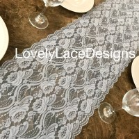 DUSTY BLUE Lace Table Runner/12 wide/3ft-11ft long/Wedding ...