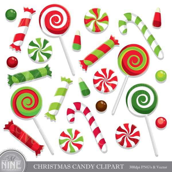 christmas candy clip art holiday