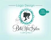 custom logo hair salon vintage