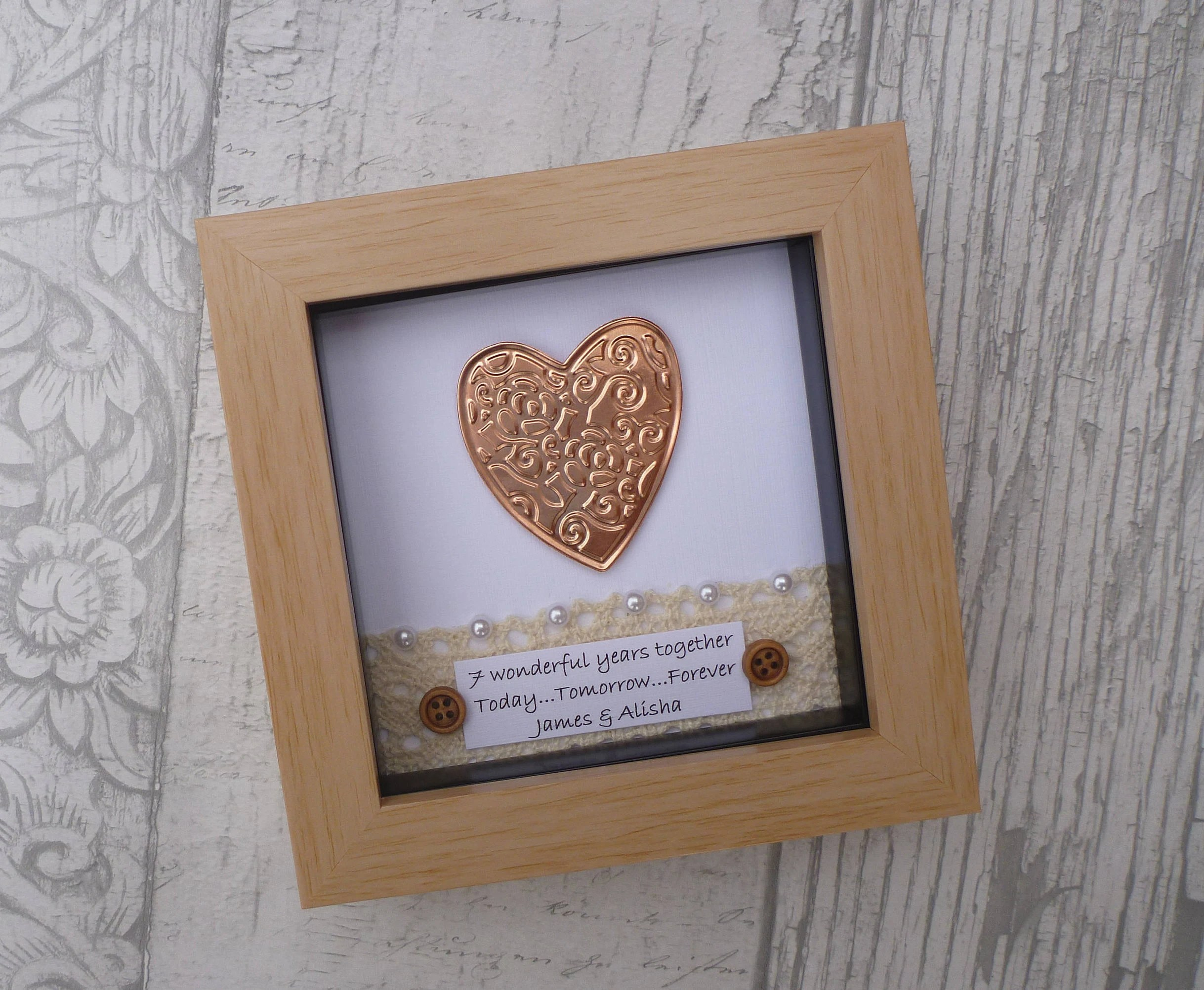 7th Wedding Anniversary Gift, 7th Anniversary Gift,copper