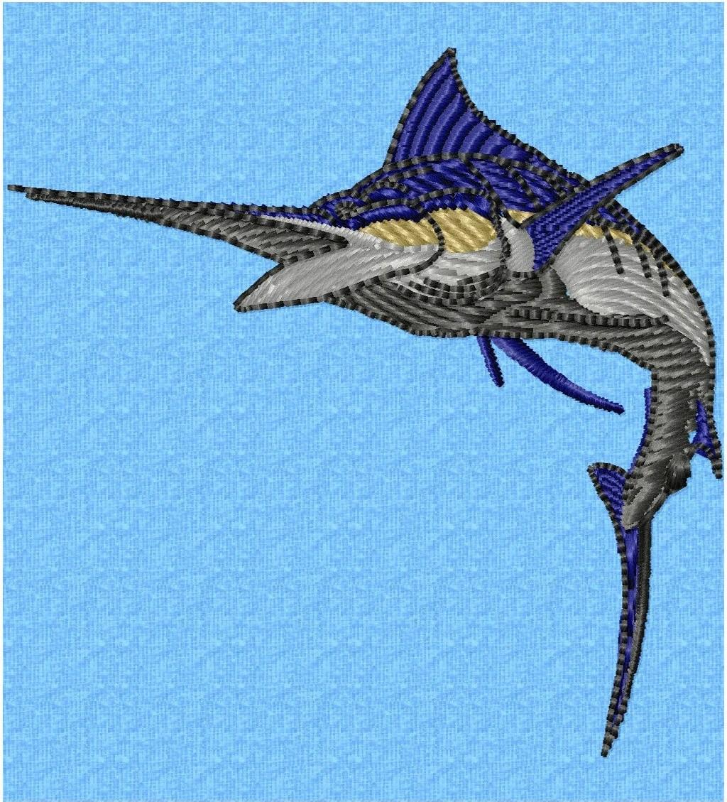 Metal Fish Wall Art Blue Marlin Fish Bottlecap Art