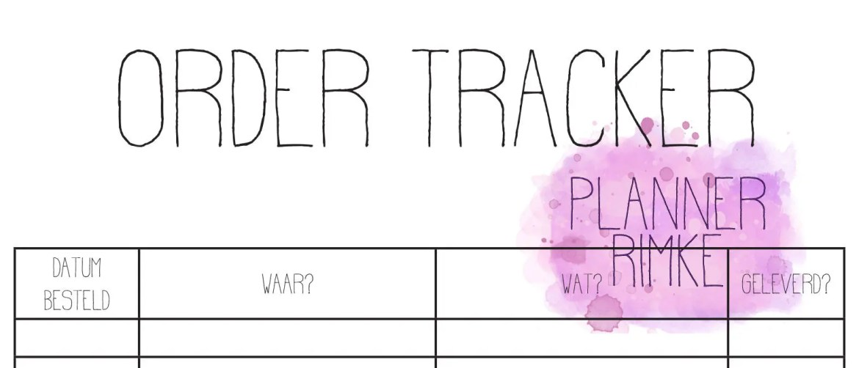 NL - A5 - Order Tracker...