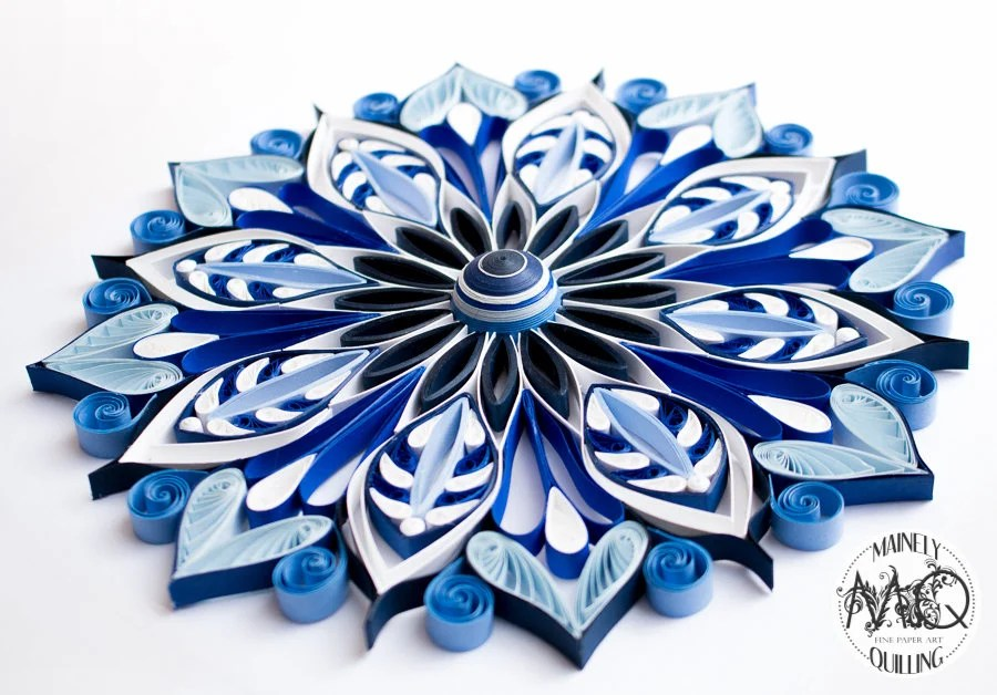 Quilled Mandala in Blues ...