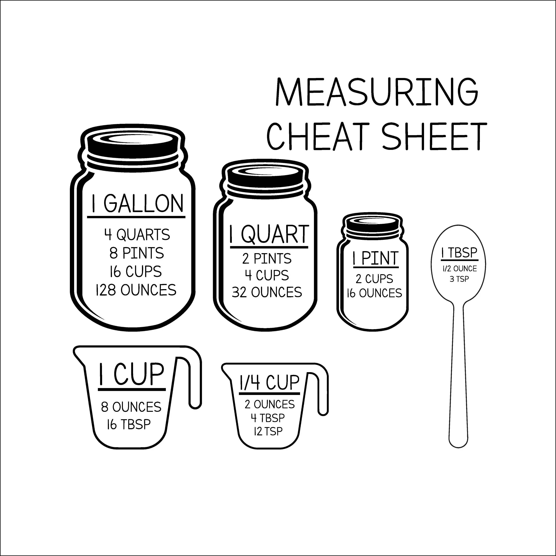 Measurement Cheat Sheet SVG Measurement svg INSTANT