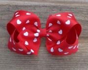 valentine hair bows