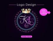 hair collection logo design initials