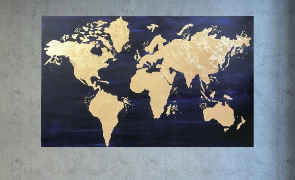 Gold World Map Wall Art.20 Gold World Map Wall Art Pictures And Ideas On Meta Networks