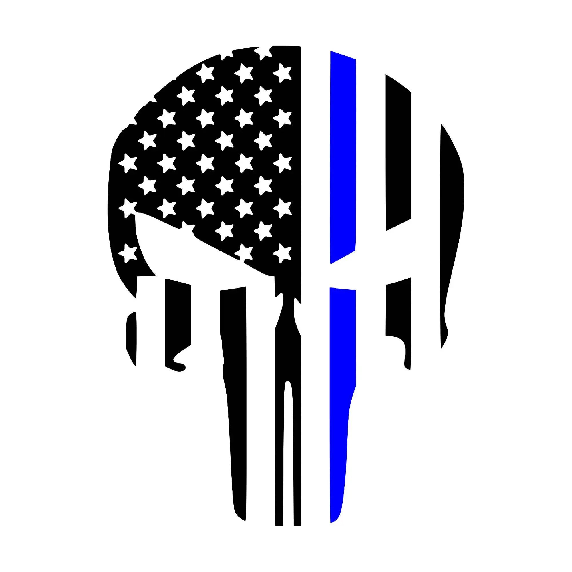 punisher blue line vector
