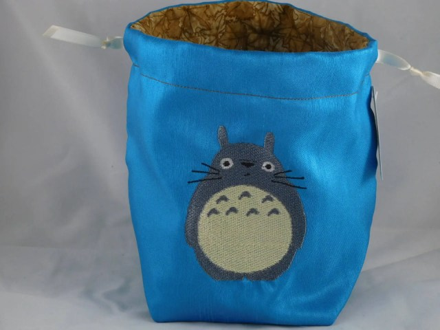 Totoro embroidered on tur...