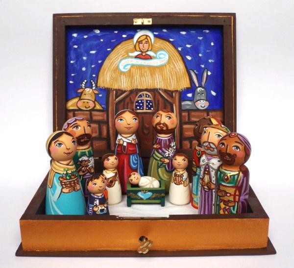 Christmas Nativity Set Ornaments Wooden