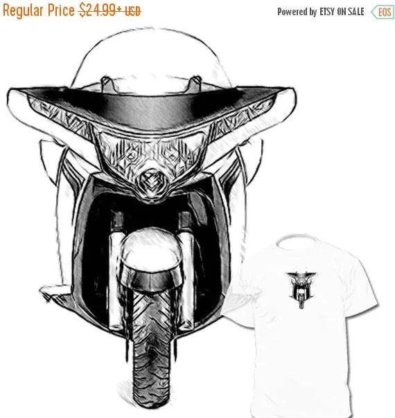 40% OFF Sale Victory Touring Vision Drawing T shirt Vision
