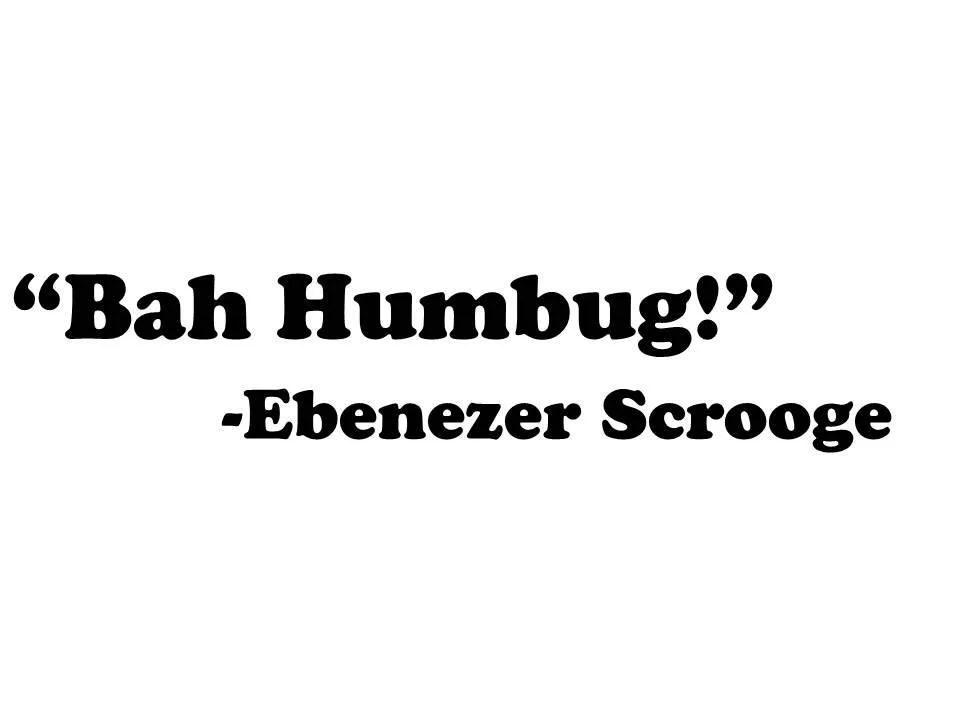 Ebenezer Scrooge Christmas Tags Silhouette Charles