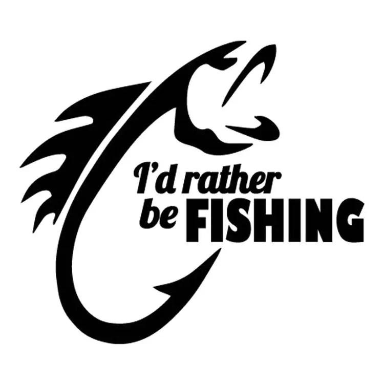 I'd Rather Be Fishing Sticker Vinyl Decal fisherman