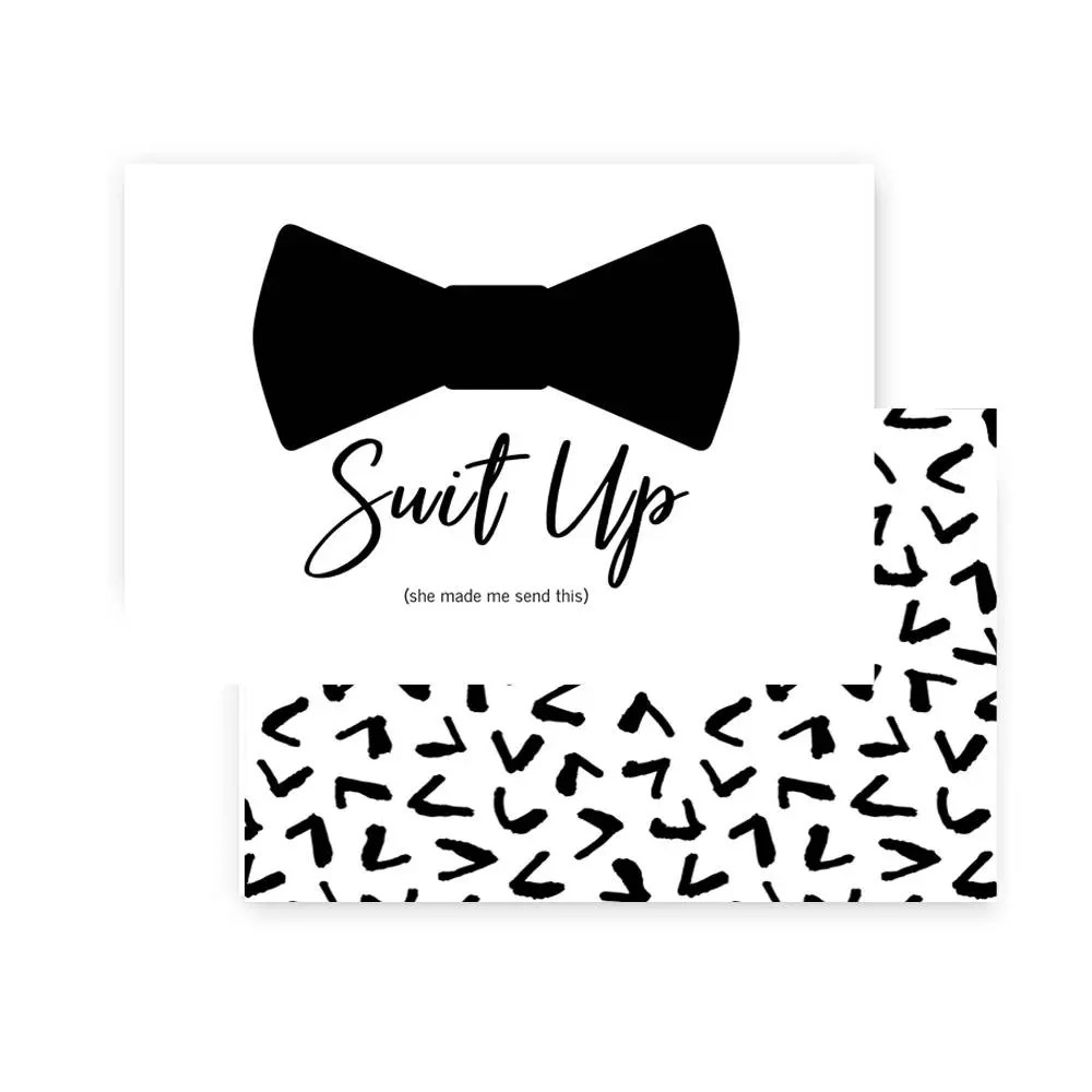 Suit Up Will You Be My Groomsmen Card Ask Bestman Funny
