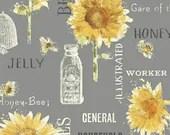 Honey Fabric, Bee Flower,...