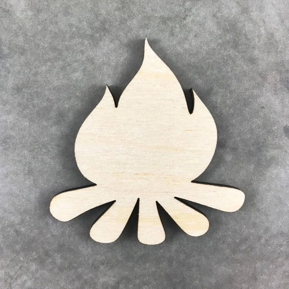 Campfire Laser Cut Wood Shape Camping Wood Cut Out Laser Cut