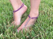 Barefoot Sandals Macrame Soleless Shoes Hemp Withbeads