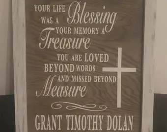 Download Life was a blessing | Etsy