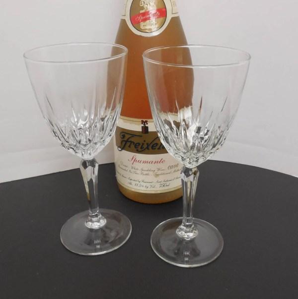 Luminarc Crystal Champagne Glasses Vintage Stemware