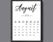 August Calendar 2018 Prin...