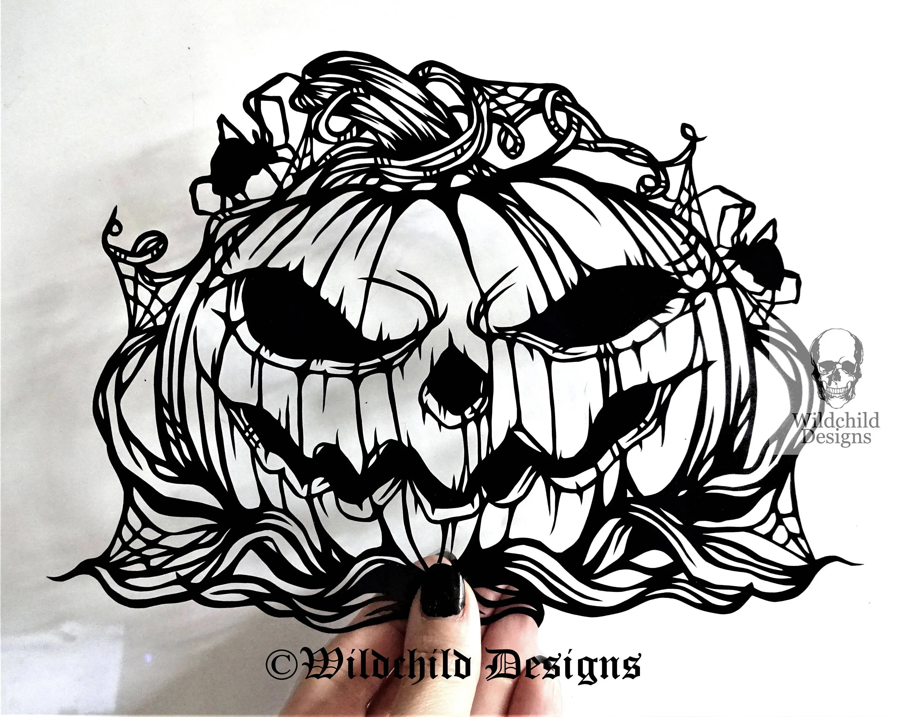 Pumpkin Paper Cutting Template Personal Or Commercial Use