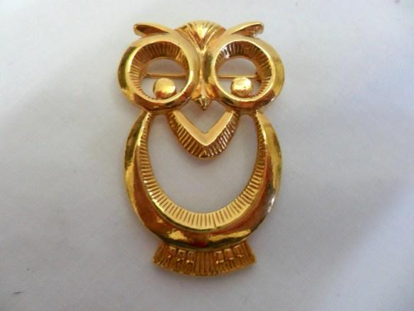 Vintage Owl Brooch Pin Go...