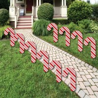 Candy Cane Shaped Lawn Decorations - Outdoor Candy Cane ...