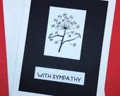 Sympathy card, flower sym...