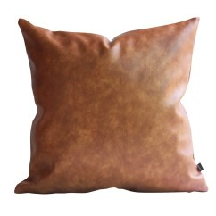 Decorative Pillows Brown Leather Sofa How To Make A Chesterfield Frame Kdays Thick Faux Tan Pillow Cover For Couch