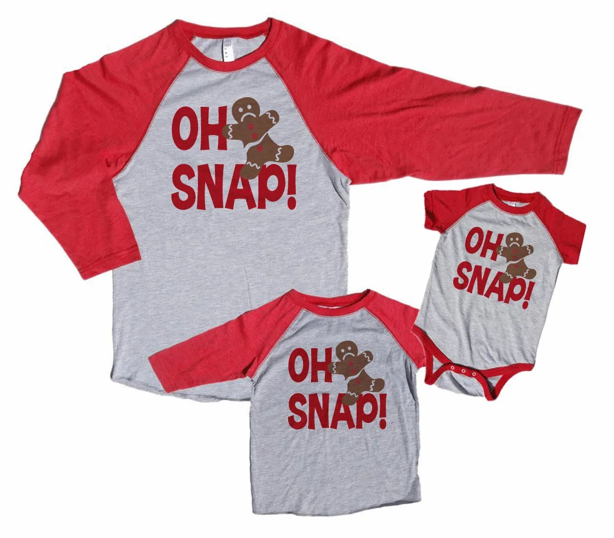 Family Christmas Shirts Oh Snap Funny Matching Family