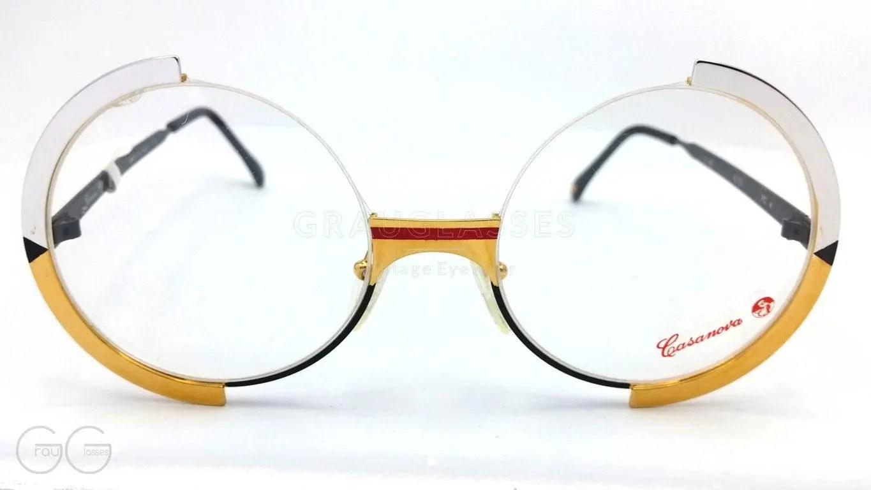 Casanova Model Fc4 C68 Round Vintage Woman Eyeglass Runde Damen