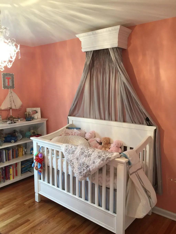 Bed Crown Canopy Crib Crown Unpainted Wall Teester Bedroom