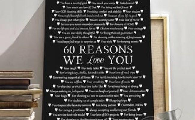 60th Birthday Gift For Mom Etsy