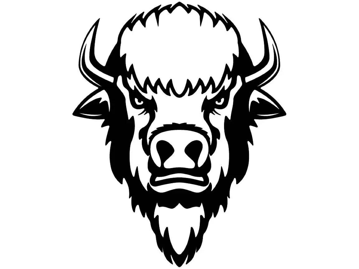 Buffalo #2 Bison Head Wild Animal Wildlife Mascot Company