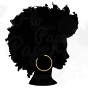 afro silhouette gold hoops