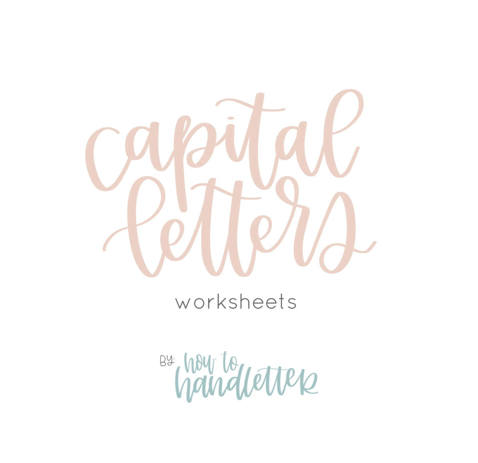 Capital Letters Handlettering Worksheets Printable Lettering