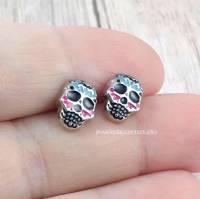 Sugar Skull Earrings Skull Stud Earrings Day of the Dead