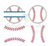 set of 3 baseball embroidery design