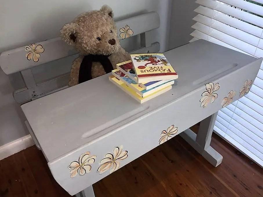 Vintage Preschool Child S Desk With Reversible Chalkboard