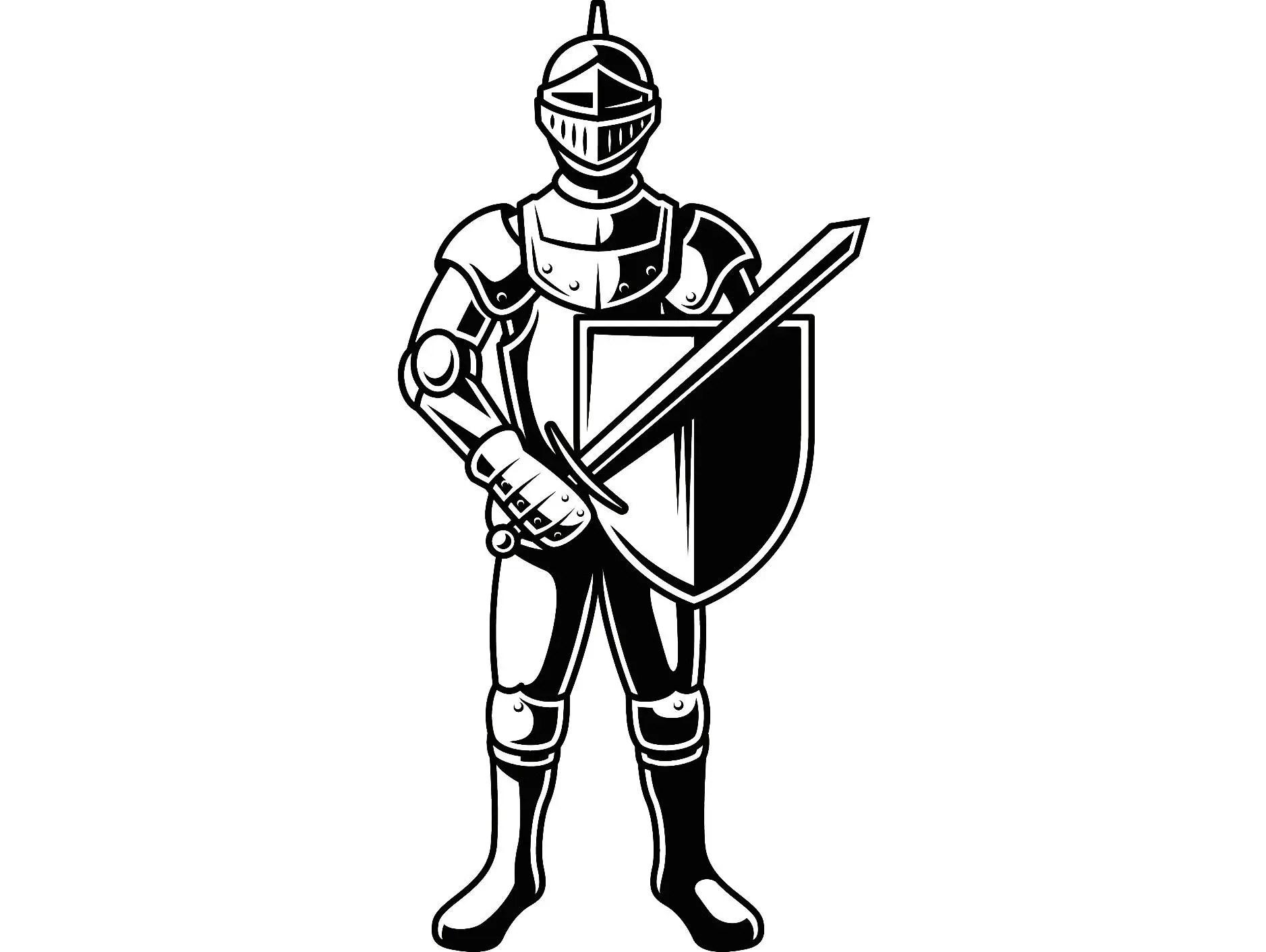 Knight #2 Metal Armor Helmet Sword Shield Monarch Military