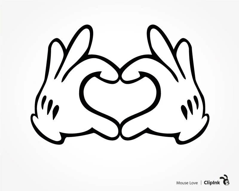 Download Disney svg Disney clipart Mickey hands Disney love sign