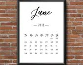 June Calendar 2018 Print ...
