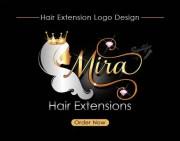 elegant logo with crown