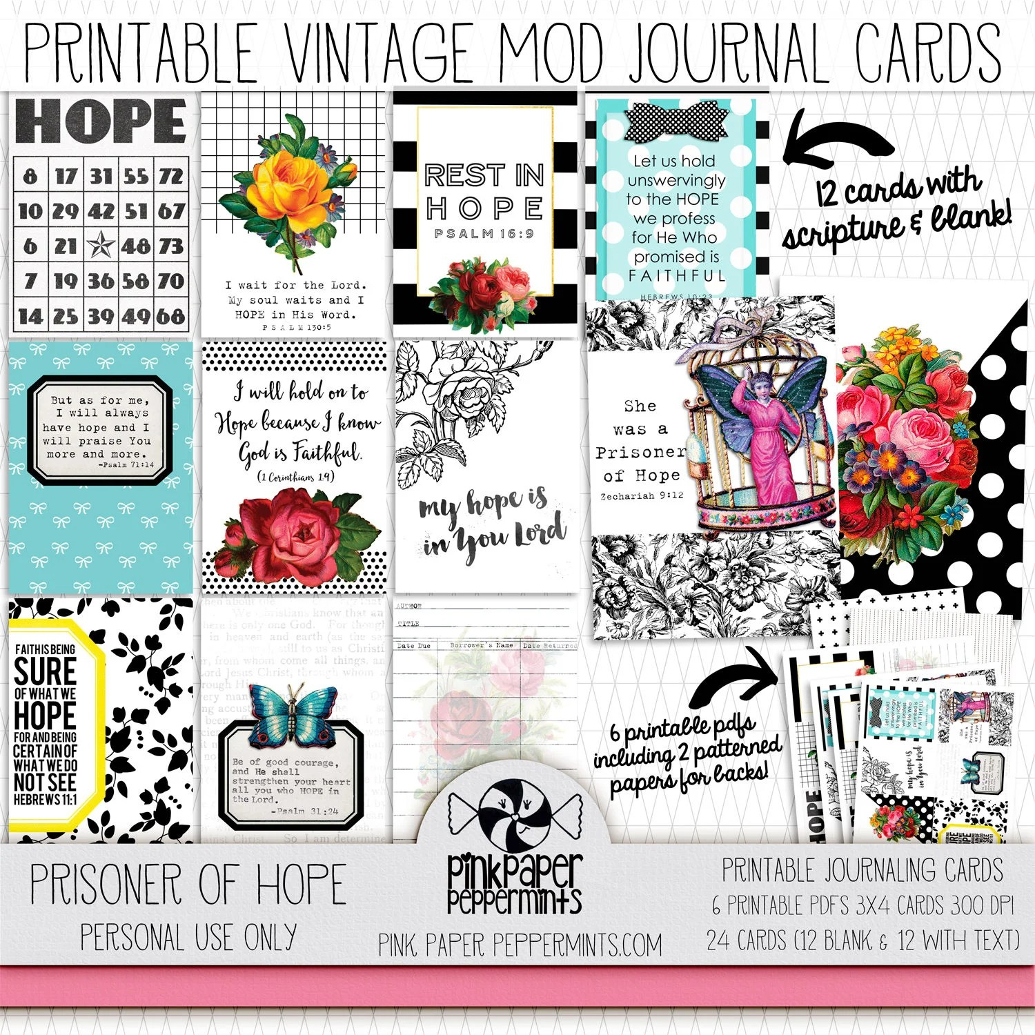 Lines2Journal Organization Planner Notebook Journal Stamps for Scrapbooking and Card-Making by The Stamps of Life
