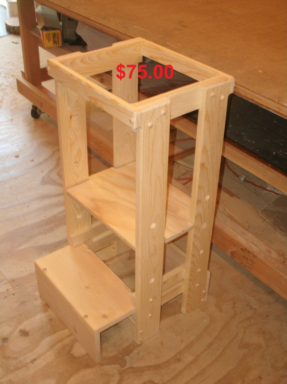 kitchen helper stool adjustable tot tower toddler stool