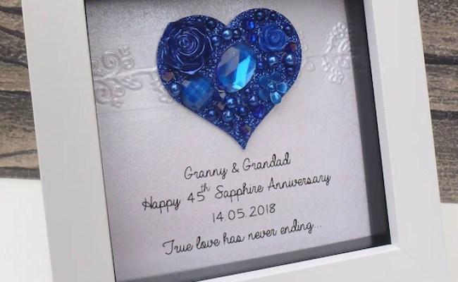 45th Wedding Anniversary Gift 45th Anniversary Gift Sapphire