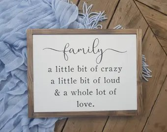 Download Crazy family quote   Etsy
