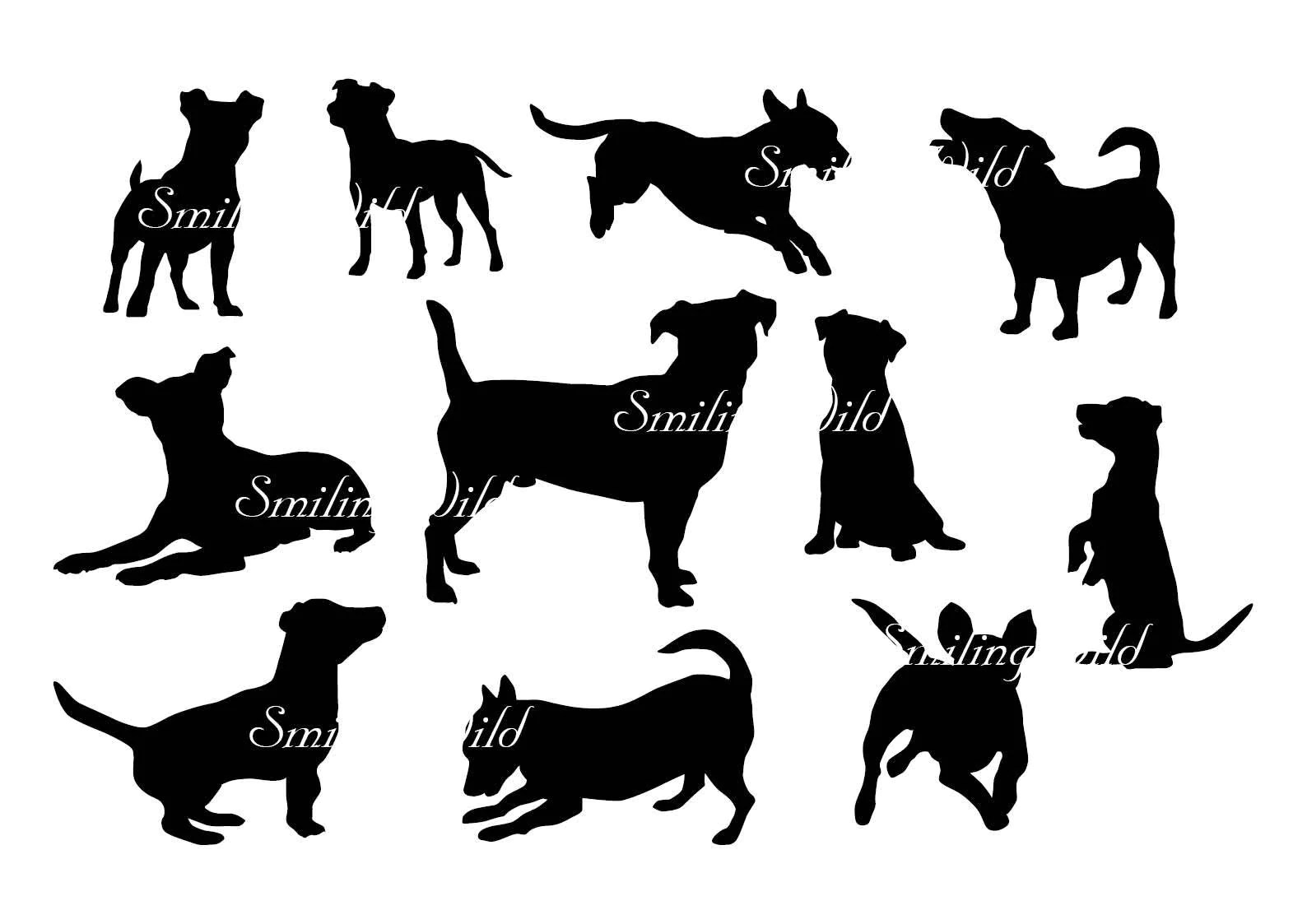 Jack Russell Dog Svg Silhouette Cut File Russell Terrier